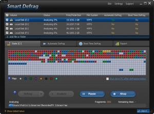 Enlarge IObit Smart Defrag Screenshot