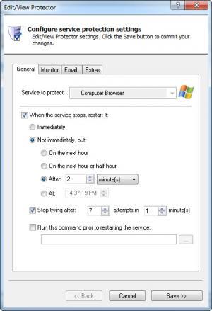 Enlarge Service Protector Screenshot