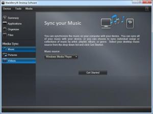 Enlarge BlackBerry Desktop Manager Screenshot