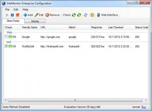 Enlarge SiteMonitor Enterprise Screenshot