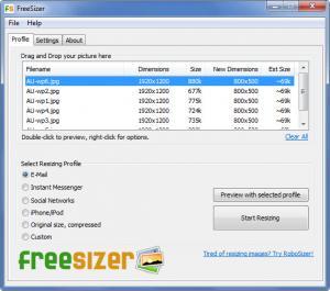 Enlarge FreeSizer Screenshot