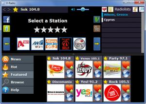 Enlarge V-Radio Screenshot