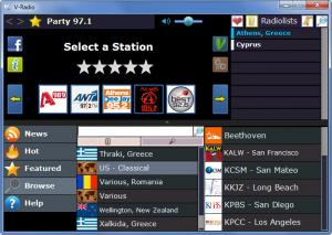 Enlarge V-Radio Screenshot