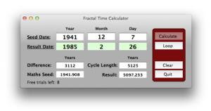 Enlarge Fractal Time Calculator Screenshot