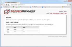 Enlarge ScreenConnect Screenshot