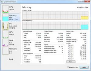Enlarge Process Hacker Screenshot