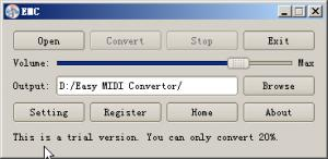 Enlarge Easy MIDI Convertor Screenshot