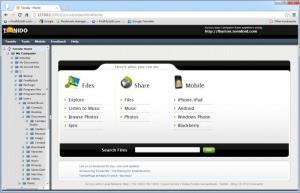 Enlarge Tonido Screenshot