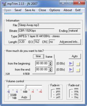 Enlarge mpTrim Screenshot