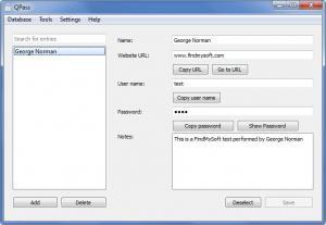 Enlarge QPass Screenshot