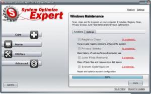 Enlarge System Optimize Expert Screenshot
