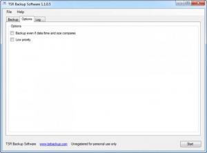 Enlarge TSR Backup Screenshot