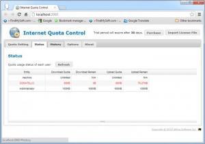 Enlarge Internet Quota Control Screenshot