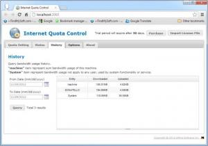 Enlarge Internet Quota Control Screenshot