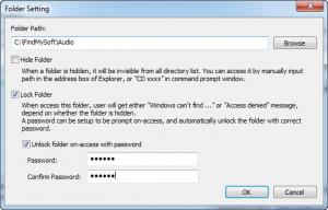 Enlarge Private Folder Screenshot