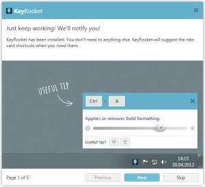 Enlarge KeyRocket Screenshot