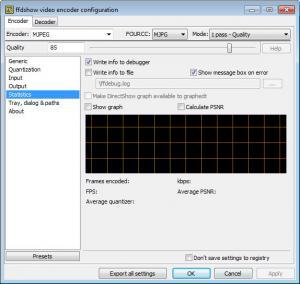 Enlarge FFDShow Screenshot