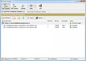 Enlarge Folder Transfer Screenshot