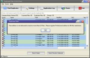 Enlarge Duplicate Filter Screenshot