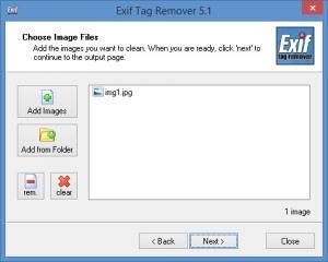 Enlarge Exif Tag Remover Screenshot