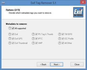 Enlarge Exif Tag Remover Screenshot