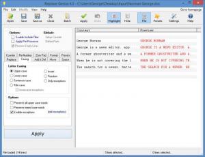 Enlarge Replace Genius Screenshot