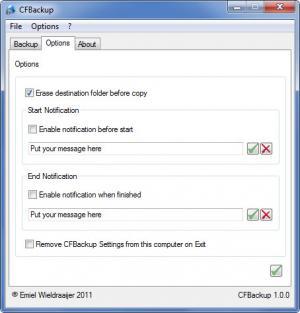 Enlarge CFBackup Screenshot