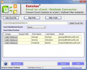 Enlarge Excel to vCard & Outlook Converter Screenshot