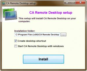 Enlarge CA Remote Desktop Screenshot
