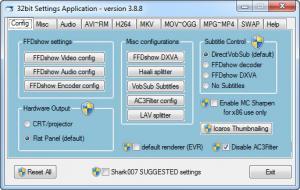 Enlarge ADVANCED Codecs Screenshot