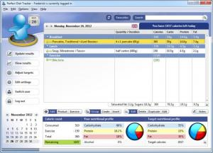 Enlarge Perfect Diet Tracker Screenshot