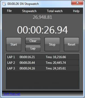 Enlarge SN Stopwatch Screenshot