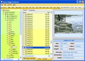 Enlarge Joyce Image Converter Screenshot