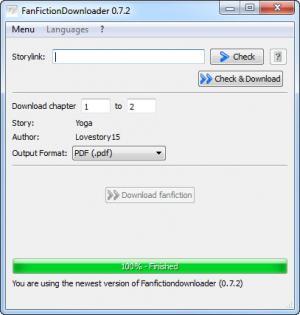 Enlarge FanFictionDownloader Screenshot
