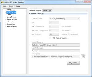 Enlarge Robo-FTP Server Screenshot