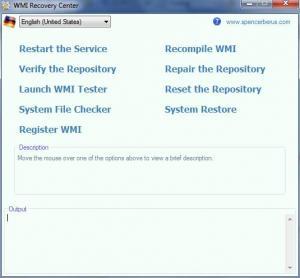 Enlarge WMI Recovery Center Screenshot