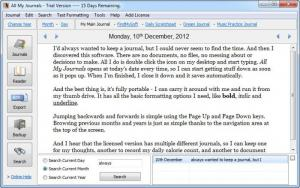 Enlarge All My Journals Screenshot