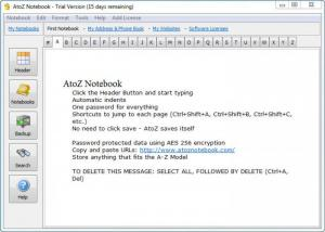 Enlarge AtoZ Notebook Screenshot
