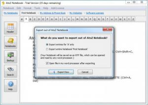 Enlarge AtoZ Notebook Screenshot