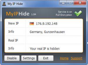 Enlarge My IP Hide Screenshot