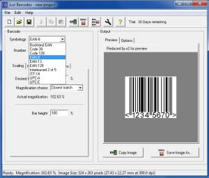 Enlarge Just Barcodes Screenshot