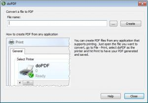 Enlarge doPDF Screenshot