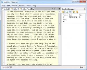 Enlarge Caderno Screenshot