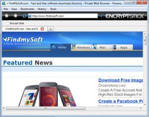 Enlarge Encrypt Stick Screenshot