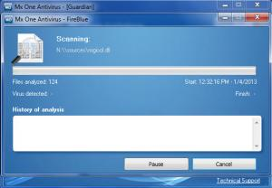 Enlarge Mx One Antivirus Screenshot
