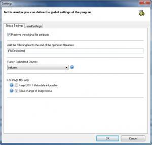 Enlarge FILEminimizer Suite Screenshot