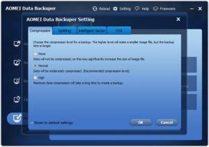 Enlarge AOMEI Data Backuper Screenshot