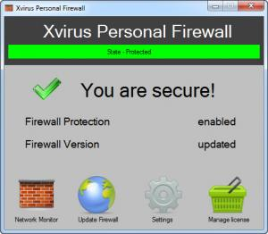 Enlarge Xvirus Personal Firewall Screenshot