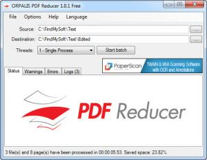 Enlarge ORPALIS PDF Reducer Screenshot