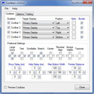 Enlarge Coolbarz Screenshot